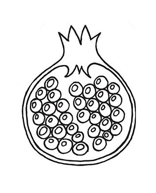 Freiwillig Aufgesprungener Granatapfel